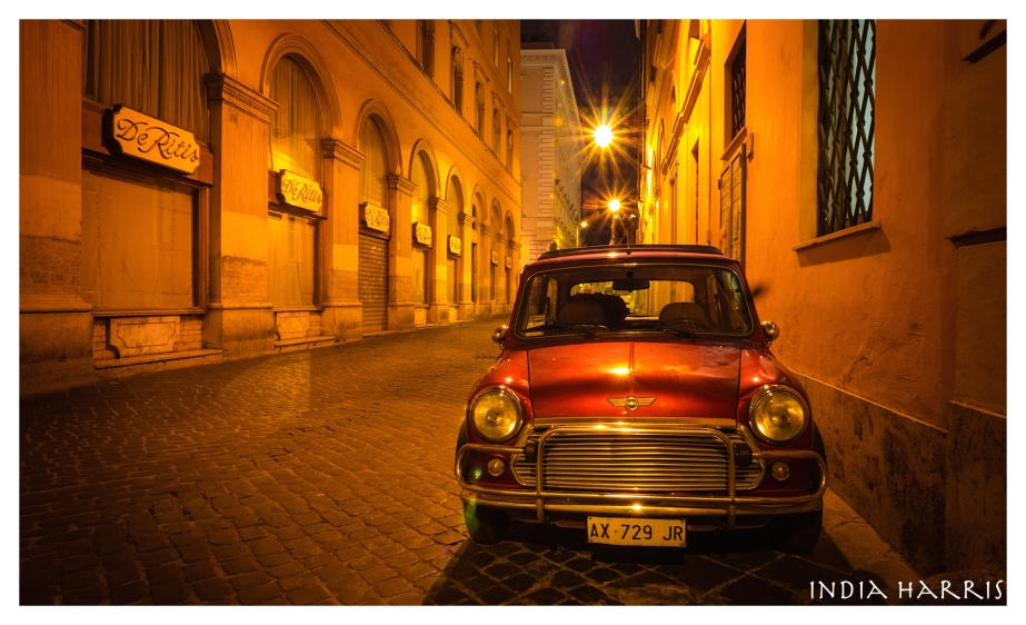 Red Mini after midnight