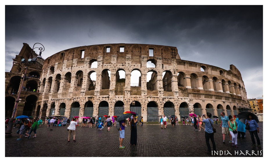 Colosseum in the rain