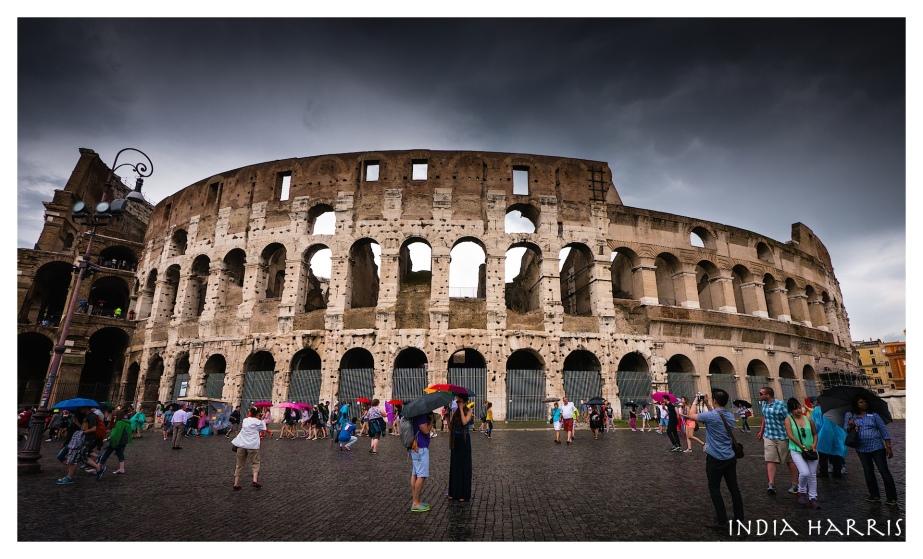 Colosseum in the rain