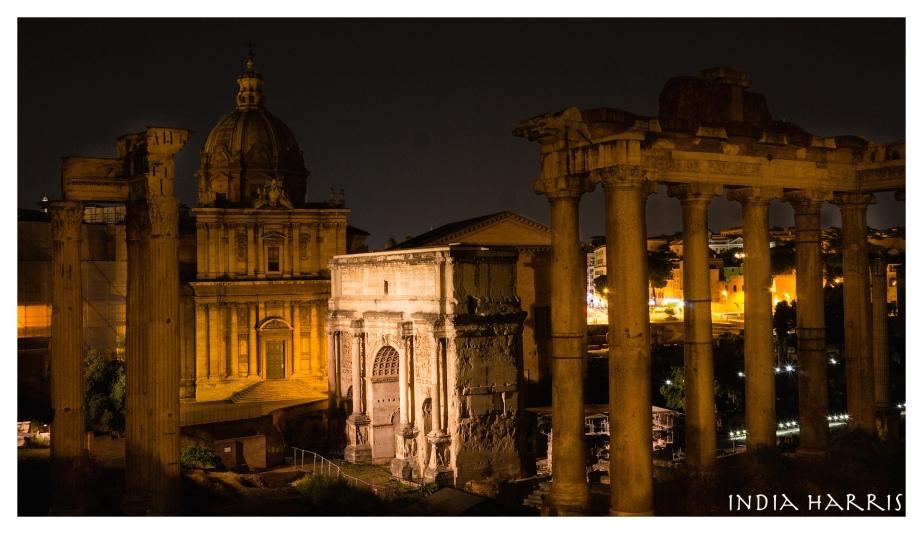 Forum at night