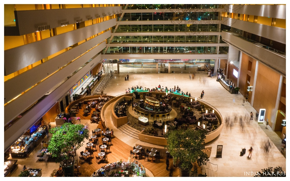 View of the Marina Bay Sands Hotel atrium